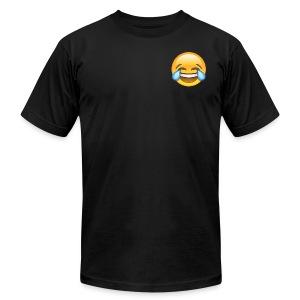 Custom Crying Laughing Emoticon Designer T-Shirt - Men's Fine Jersey T-Shirt