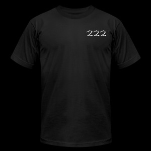 222 Chalk Style Pocket Logo - Men's Fine Jersey T-Shirt