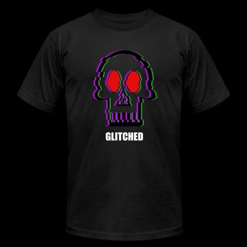 Glitched Skull - Men's Fine Jersey T-Shirt