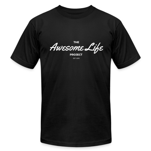 The AwesomeLife Project Logo White - Men's Fine Jersey T-Shirt