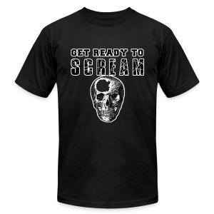 FUNNY HALLOWEEN GET READY TO SCREAM - Men's Fine Jersey T-Shirt