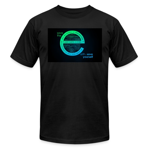 save the earth for UAE - Men's Fine Jersey T-Shirt