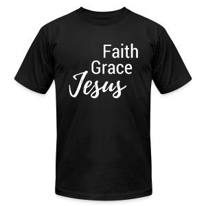 Faith Grace Jesus - Men's Fine Jersey T-Shirt