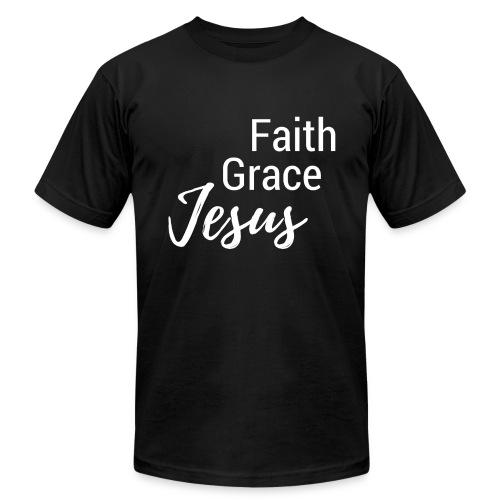 Faith Grace Jesus - Men's  Jersey T-Shirt