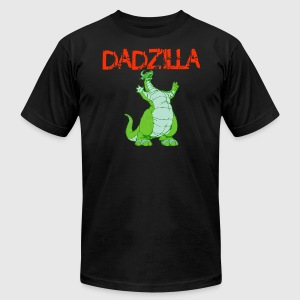 Funny Dadzilla Shirt Father s Day - Men's T-Shirt by American Apparel