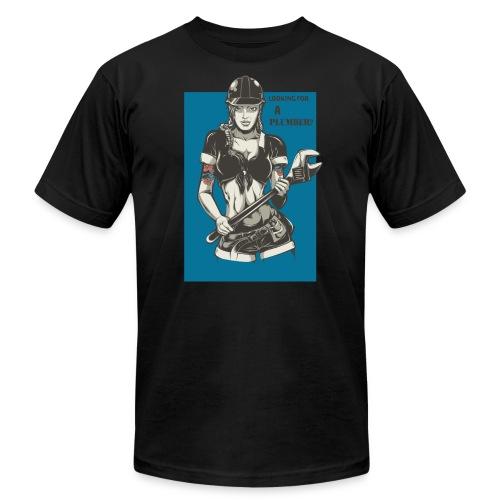 Looking for a Plumber Engineer T shirt - Men's Fine Jersey T-Shirt