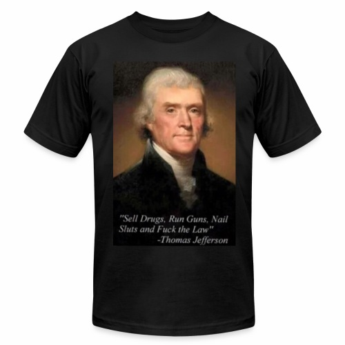 Thomas Jefferson inspirational graphic tee - Men's Fine Jersey T-Shirt