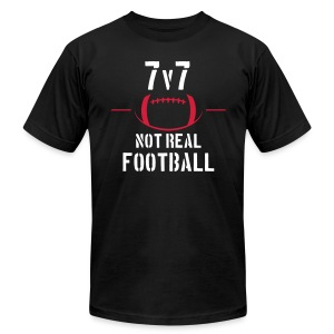 7v7: NOT Real Football - Men's T-Shirt by American Apparel