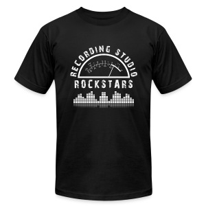 Recording Studio Rockstars - White Logo - Men's T-Shirt by American Apparel