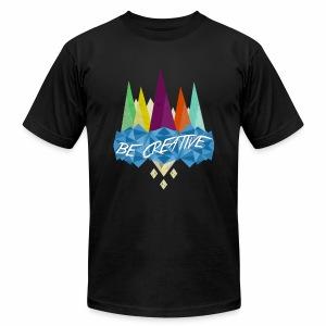 Be Creative Polygon Art - Men's Fine Jersey T-Shirt