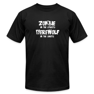 Zombie In The Streets - Men's T-Shirt by American Apparel