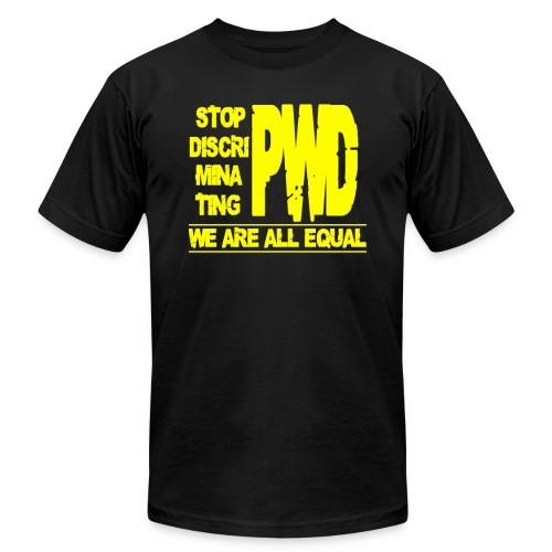 Stop PWD Discrimination - Men's Fine Jersey T-Shirt