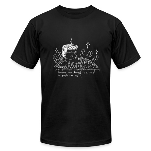 Trapped in a Taco - Men's Fine Jersey T-Shirt