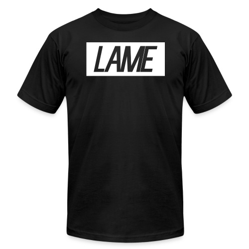 lame/ white rectangle - Men's Fine Jersey T-Shirt