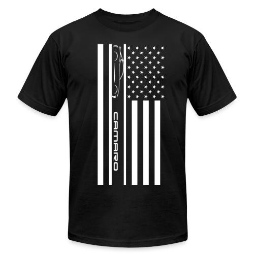 Camaro American Flag - Men's Fine Jersey T-Shirt