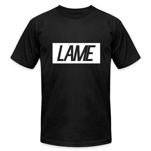 lame/ white rectangle - Men's Fine Jersey T-Shirt