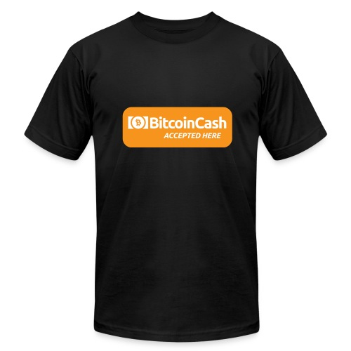 Bitcoin Cash Accepted Here - Men's Fine Jersey T-Shirt