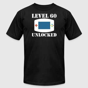 Level 60 Unlocked Video Games 60th Birthday - Men's T-Shirt by American Apparel