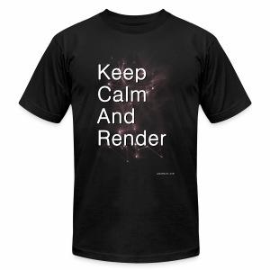 Keep Calm and RENDER - Men's Fine Jersey T-Shirt