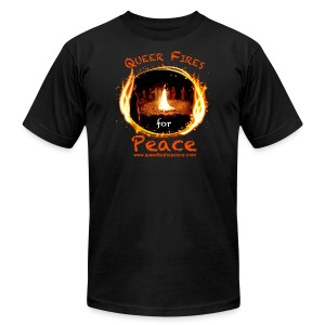 Queer Fires for Peace - Men's T-Shirt by American Apparel