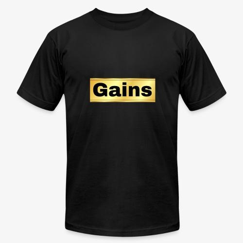 gold gains - Men's  Jersey T-Shirt