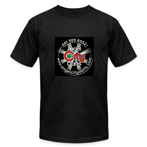 logo on black - Men's Fine Jersey T-Shirt