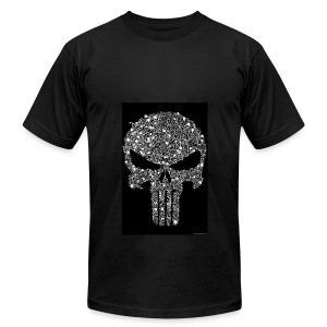 Skull wire theme - Men's T-Shirt by American Apparel