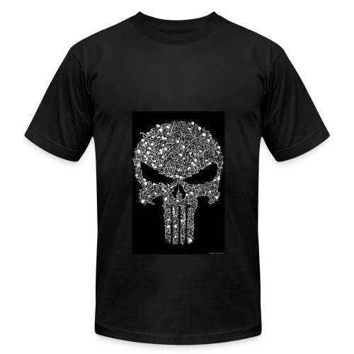 Skull wire theme - Men's Fine Jersey T-Shirt