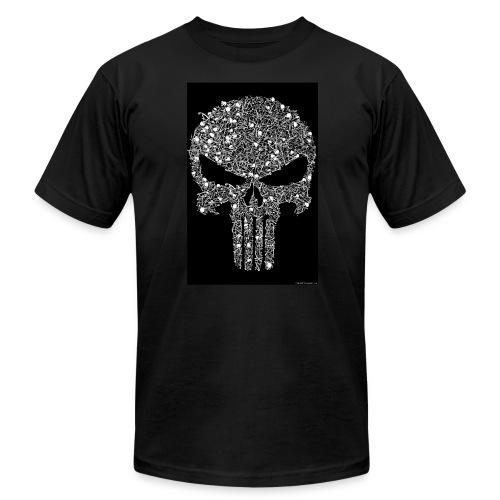 Skull wire theme - Men's  Jersey T-Shirt