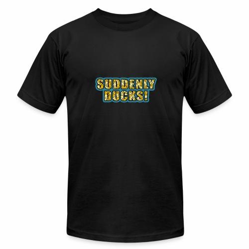 Duck-Filled Text - Men's Fine Jersey T-Shirt