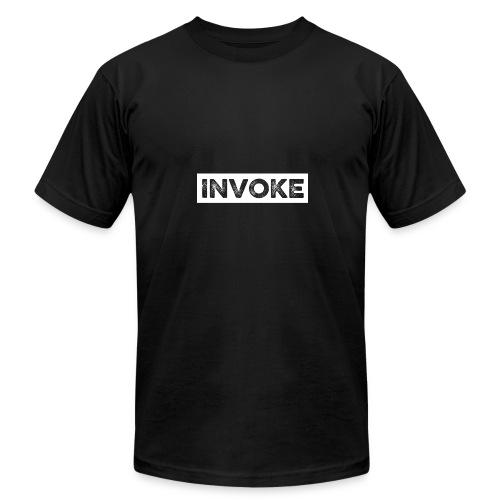Invoke White Logo - Men's Fine Jersey T-Shirt