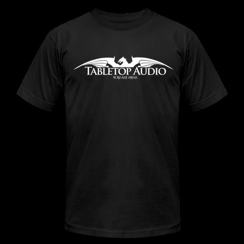 Tabletop Audio: Logo White - Men's Fine Jersey T-Shirt