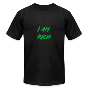 I AM RICH (WASTE YOUR MONEY) - Men's Fine Jersey T-Shirt