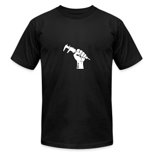 Machinist Power Fist - Men's T-Shirt by American Apparel