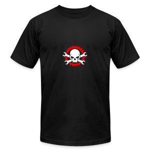 Gearhead Skull and Crossed Wrenches - Men's Fine Jersey T-Shirt