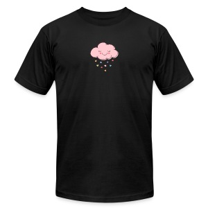 Raining Hearts - Men's T-Shirt by American Apparel