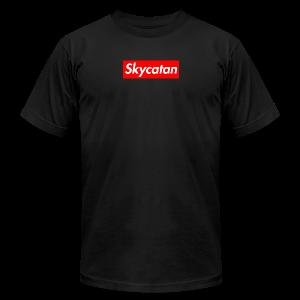 Limited Edition Supreme SkyCatan Logo - Men's Fine Jersey T-Shirt