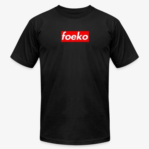 Foeko Logo Red Box - Men's Fine Jersey T-Shirt