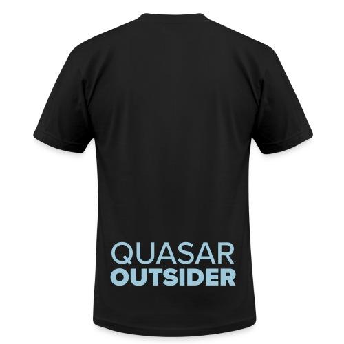 Quasar Outsider logo - Men's Fine Jersey T-Shirt