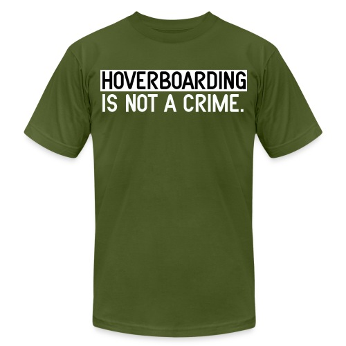 HoverBoarding Is Not A Crime by Dedderz - Unisex Jersey T-Shirt by Bella + Canvas