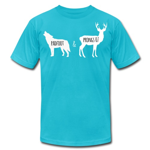 Padfoot&Prongs07 White - Unisex Jersey T-Shirt by Bella + Canvas