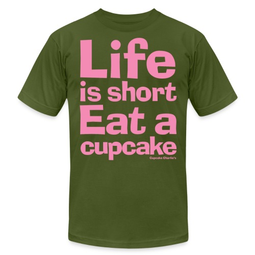 lifeisshort pink - Unisex Jersey T-Shirt by Bella + Canvas