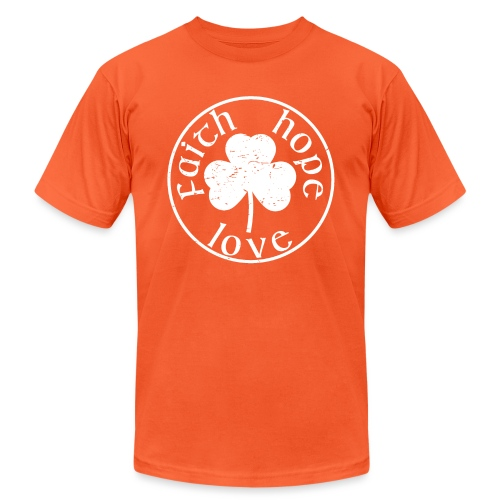 Irish Shamrock Faith Hope Love - Unisex Jersey T-Shirt by Bella + Canvas