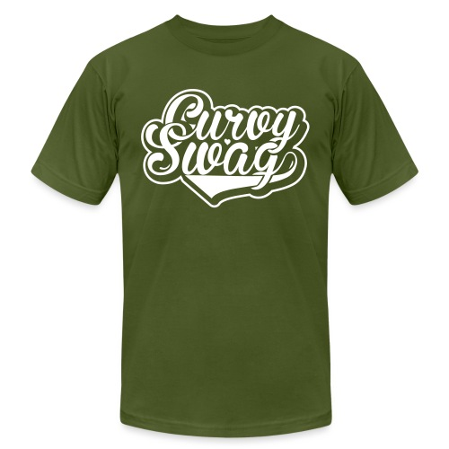 Curvy Swag Reversed Out Design - Unisex Jersey T-Shirt by Bella + Canvas