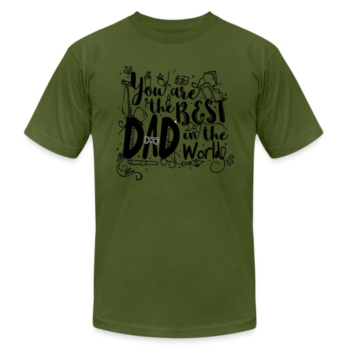 You are the best dad in the world - Men's  Jersey T-Shirt