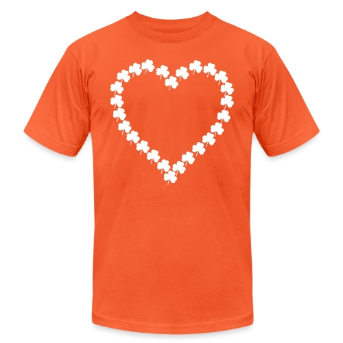 shamrock heart - Unisex Jersey T-Shirt by Bella + Canvas