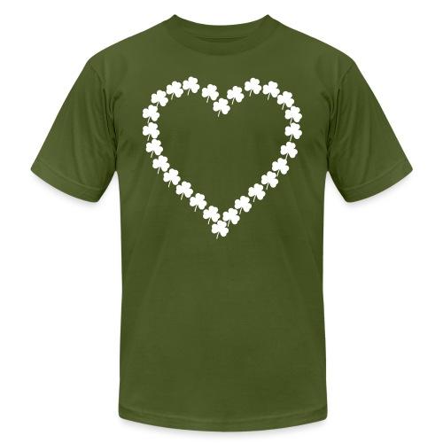 shamrock heart - Unisex Jersey T-Shirt by Bella + Canvas