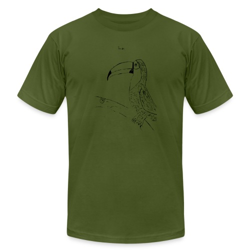 Stephen's hand drawn Toucan - Men's  Jersey T-Shirt