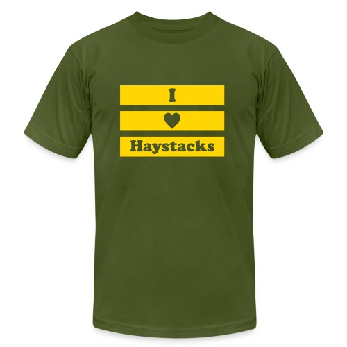 Haystacks Yellow - Unisex Jersey T-Shirt by Bella + Canvas