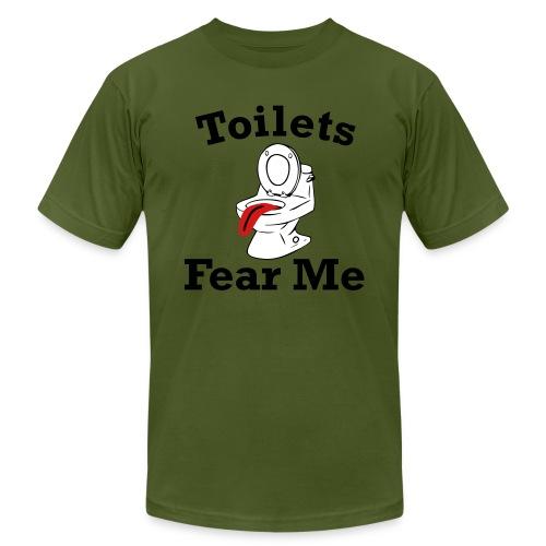 Toilets Fear Me - Unisex Jersey T-Shirt by Bella + Canvas